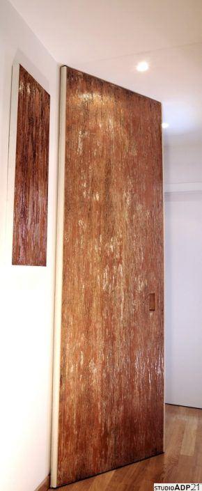 decorazione con texture materica effetto rame ossidato