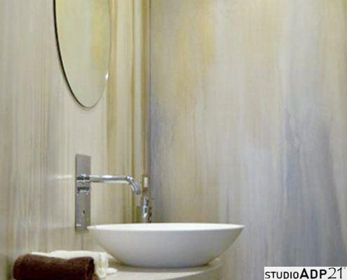 bagno in resina decorativa