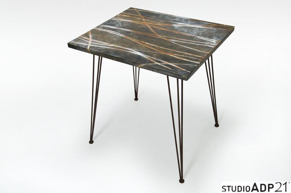 tavolo artistico in resina