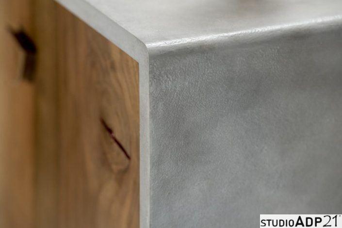 comodino moderno cemento