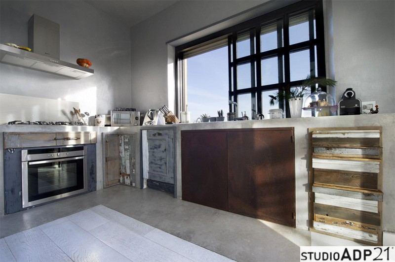 Cucina in Resina - frontali cucina , superfici in resina e pavimenti ...