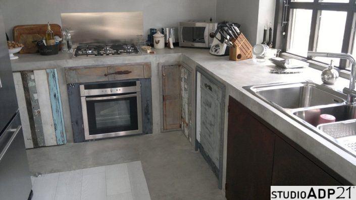 piano cucina in resina