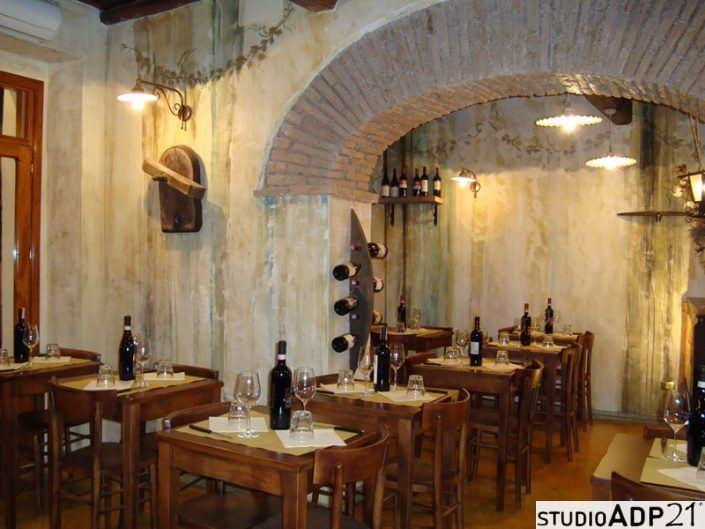 sala ristorante decorata
