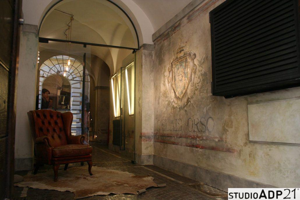 decorazione classica finto affresco Relais Orso