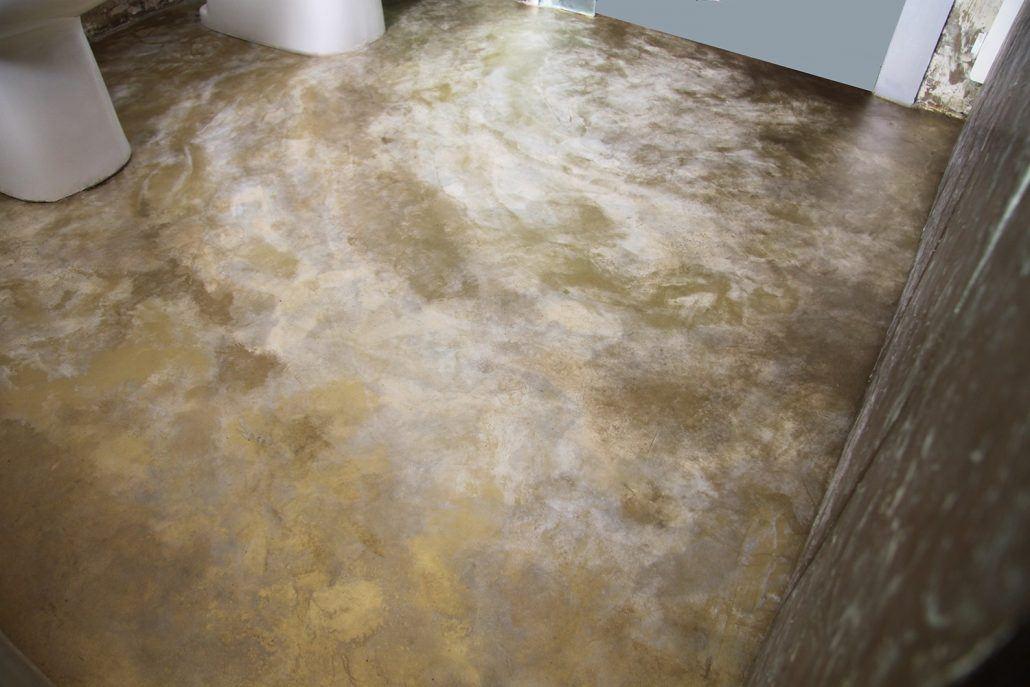 pavimento-micorcemento-oro-madreperla per abitazione privata a Roma