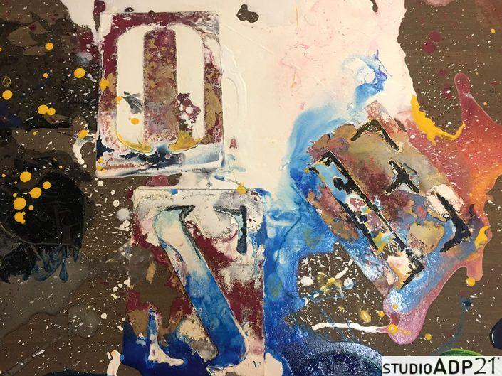 quadro con colature colore