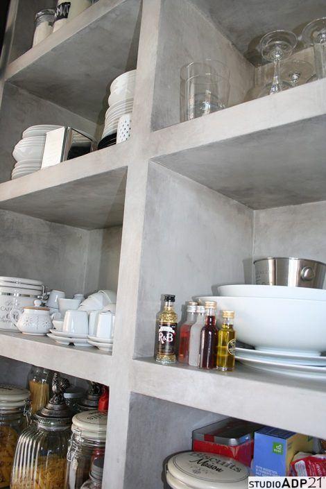 Cucina in resina frontali cucina superfici in resina e - Scaffale cucina ...