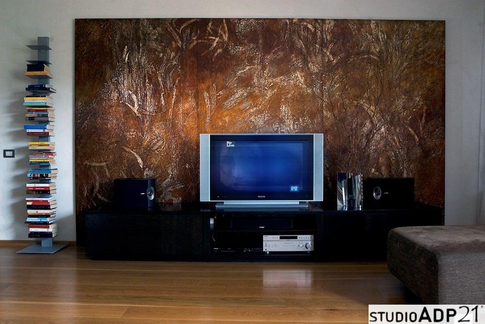 trittico moderno con ruggine