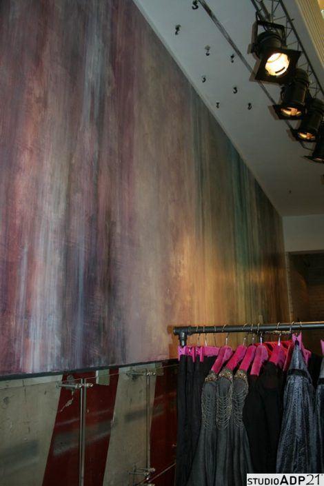 parete decorata negozio di abbigliamento