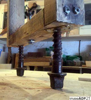 abbinamento ferro e legno