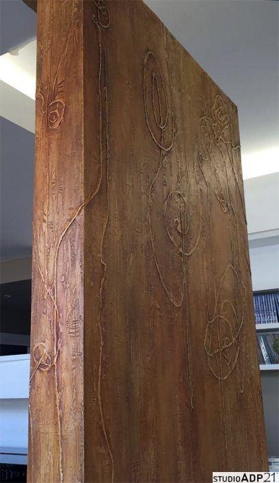 parete divisoria decorata