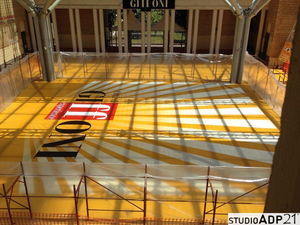 Giffoni festival pavimento in resina decorato