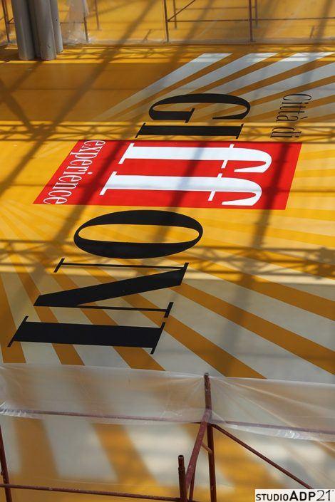 pavimento in resina decorato per giffoni film festival