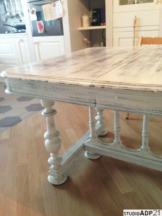 tavolo in shabby chic