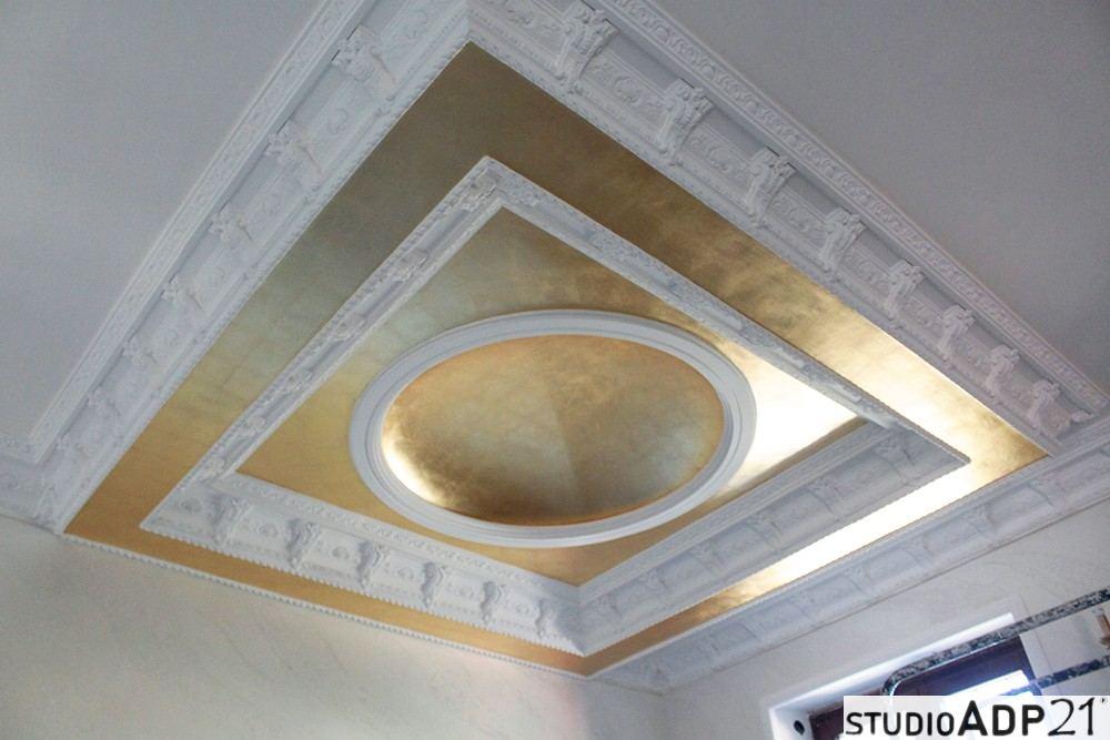 cupola in foglia oro