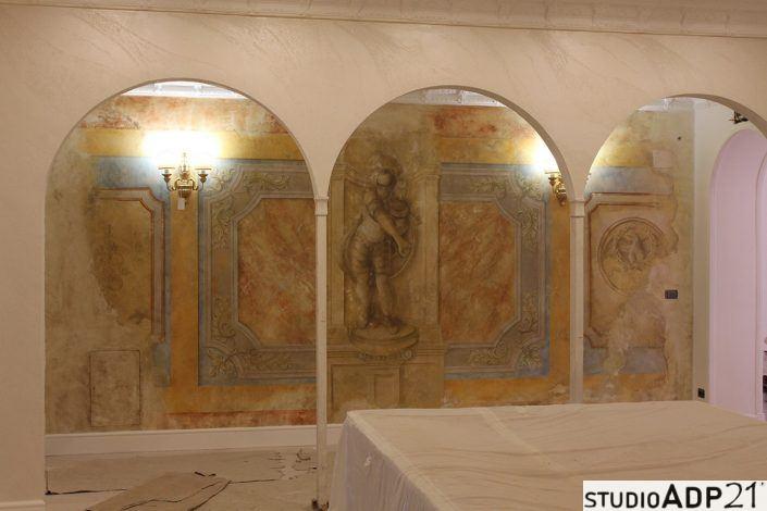 decorazione classica finto affresco centurione romano