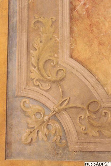 decorazione classica finto affresco Grisaille