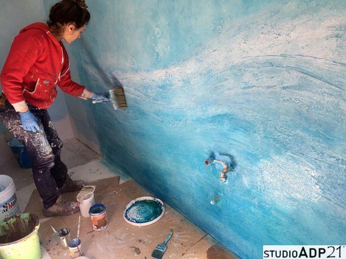 bagno blu mare