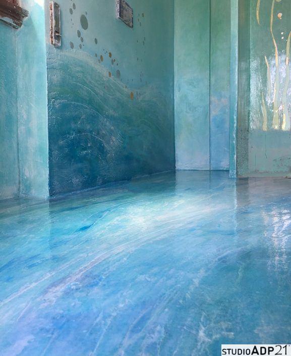 bagni pareti resine