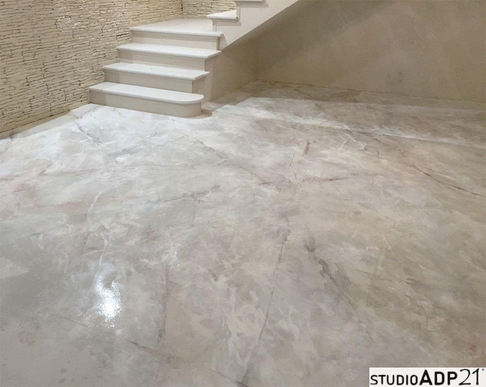 Pavimento In Resina Bianco.Pavimenti In Resina Decorativa Bellezza E Resistenza