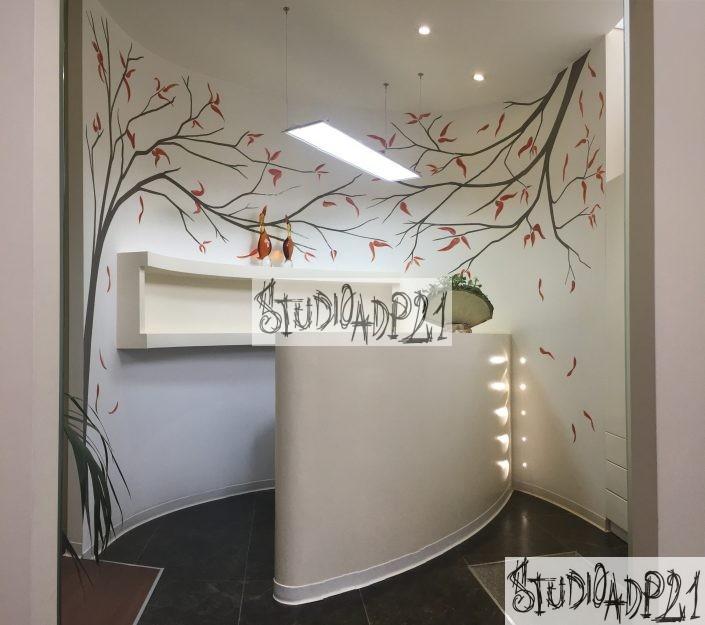 alberi dipinti su parete