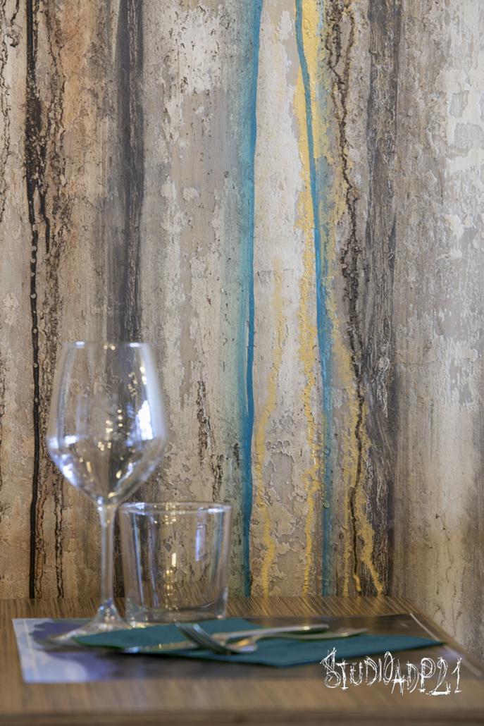 parete artistica ristorante A Roma