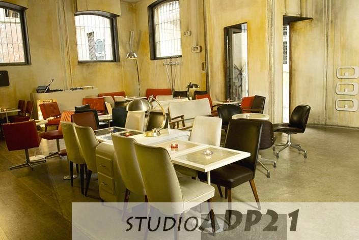 parete moderna design con colature e patine.lounge bar Roma