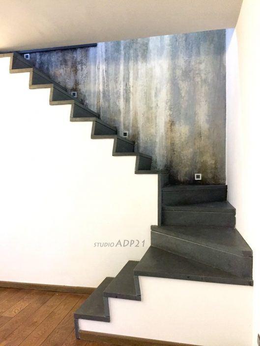 parete scala decorata