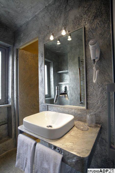 bagno in resina decorato