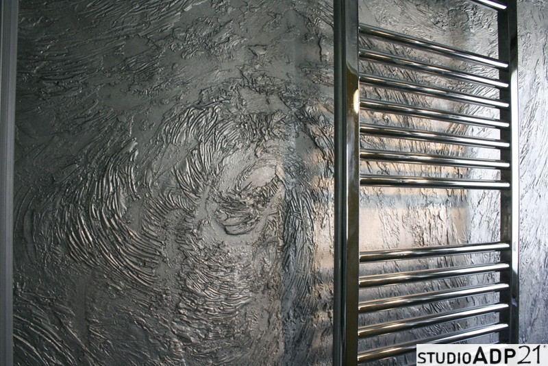 parete bagno argentata