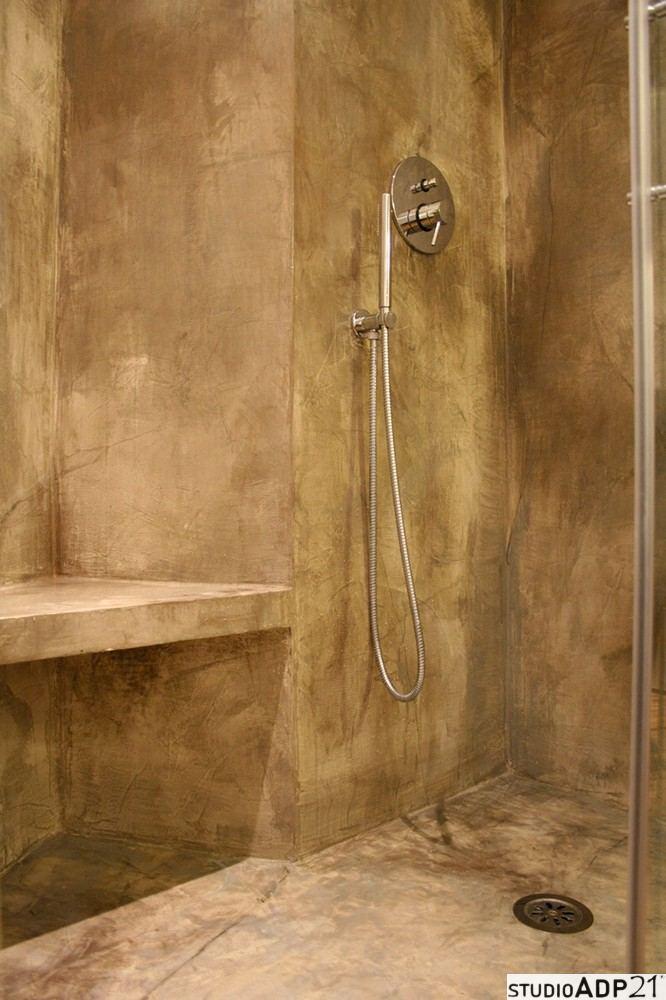 bagno in resina effetto ossidato