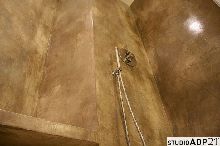 bagno resina effetto ossidato
